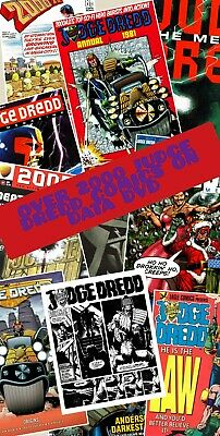 OVER 2000 JUDGE DREDD COMICS FROM THE PAGES OF 2000AD ON DATA DVD DISCS
