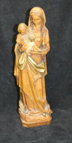 ANRI MADONNA & BABY JESUS WOOD CARVING FIGURINE