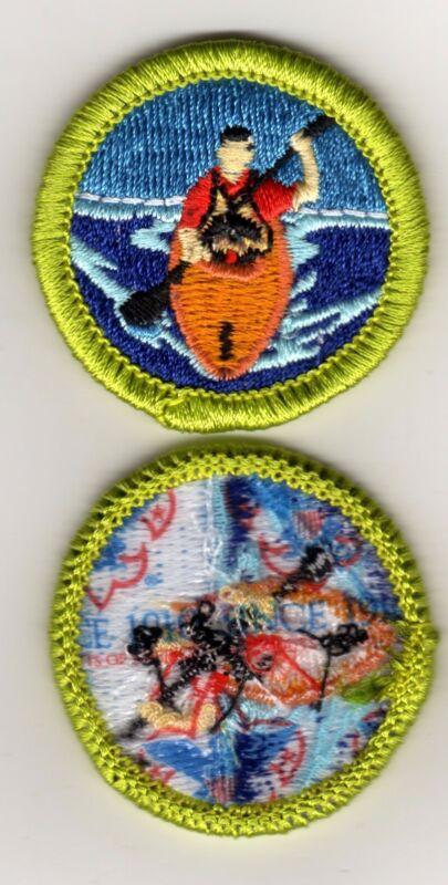 """Kayaking Merit Badge, Type L, """"Since 1910"""" Back (2012-Current)"""
