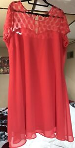Coral party dress size 20