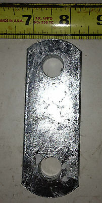 """Trailer spring shackle plate 1.5in x 4 in with 1/2"""" hole Galvanized P7"""