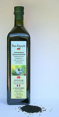 Bon Appetit 100% natureines, ägyptisches Schwarzkümmelöl 5x 1000 ml ungefiltert