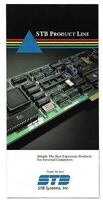 Vintage STB Product Line Color Brochure ~ Computer Expansion Boards
