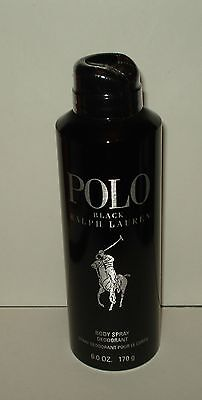 Ralph Lauren~ Polo Black  Deodorizing Body Spray  6.0 oz/ 170 ml  New