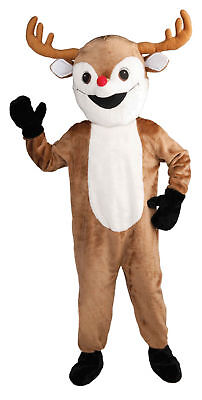 Rudolph Reindeer Mascot Costume Pro Quality Adult Christmas Deer Party