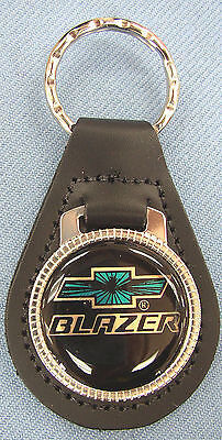 Chevy Blazer Black Leather Keyring Chevrolet Bow Tie 1982 1983 1984 1985 1986