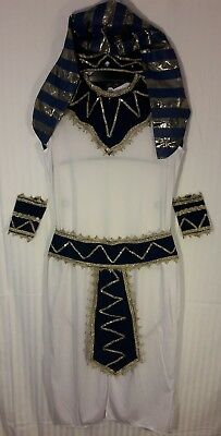 Boy's EGYPTIAN Pharaoh Joseph Biblical White Robe COSTUME SCHOOL Project ](Egyptian Boy Costume)