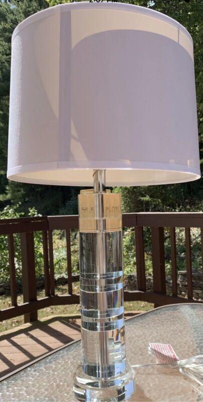 "RALPH LAUREN Farrah Cut Crystal Table Lamp 28"" Tall  *New*"