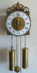 Comtoise Wall Clock Mini Dutch Made 8 Day Chain Driven Hermle Bell 1975