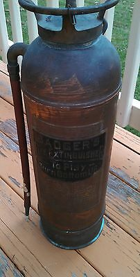 Vintage Badger Fire Extinguisher copper brass fire department equipment