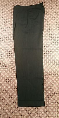 Vintage 40's 50's Hollywood Belt Loops Gabardine Dress pants 31x30 teal