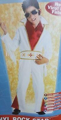 Vinyl Rock Star Elvis Presley Costume Boys Rubies 38738