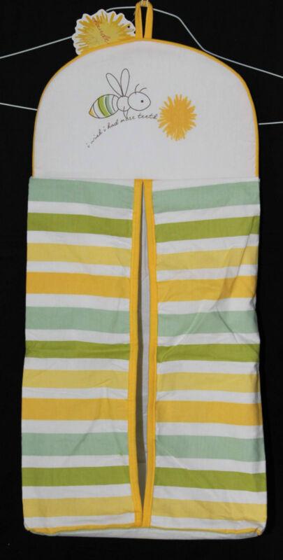 Midwest CBK Dandelion Wishes Diaper Stacker yellow green bee nursery new