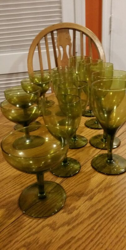 Vtg Champagne Coupe ,Water and Wine Goblet