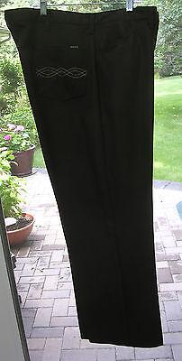 Vintage 70's Mens Maverick Brown Polyester Rockabilly Western Pants 42x31