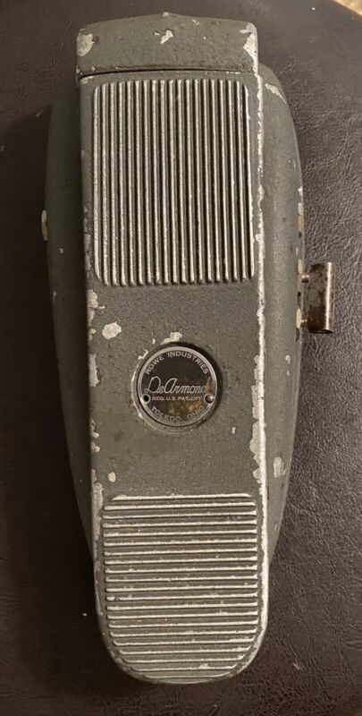 Vintage DeArmond Electric Guitar Volume Foot Pedal Amplifier Control Art Deco