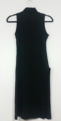kikiriki womens bodycon dress size large ladies sleeveless stretch chic black