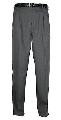 Mens Heather Gray Dress Pants Big &Tall Pleated Trousers W/ Belt Sizes 44 to 70
