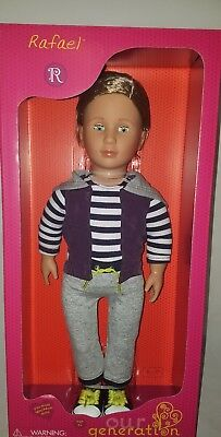 "New Our Generation RAFAEL Boy Doll 18"" fits American Girl Fast Ship!"