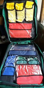 trauma bag first aid kit bag paramedic rucksack 9 separate compartments handle