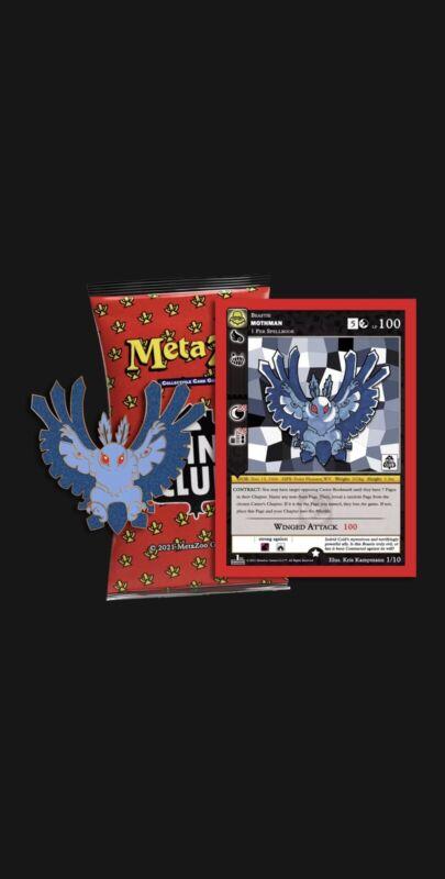 Mothman Pin + Promo Card Set METAZOO PINCLUB ORDER CONFIRMED