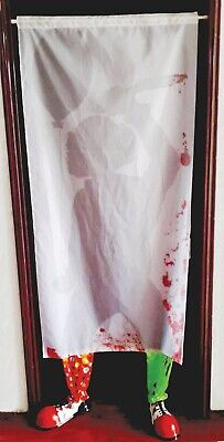 Scary Clown Props (Evil Scary Clown Curtain Halloween Decoration Prop)