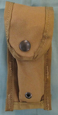 NEW GENUINE USMC/US SOF ISSUE MOLLE II SINGLE 9mm PISTOL MAGAZINE POUCH. COYOTE.