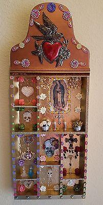 Day of the Dead Altar Ofrenda Retablo Box Mexican Folk Art  Dia De los Muertos