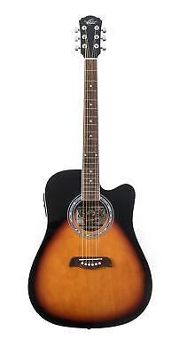 Oscar Schmidt by Washburn Acoustic Electric Guitar, Vintage Burst, OD45CEVSB