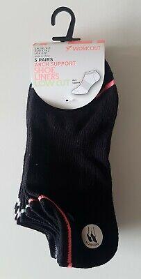 Paar Low Cut Sock (5 Paar Füßlinge Low Cut Sneaker Footies Socken 37-41 Arch Support No Show black)