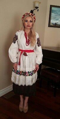 ANTIQUE  UKRAINIAN   TRADITIONAL  COSTUME KARPATIAN (VERHOVYNA)  REGION .