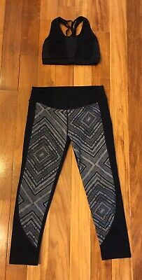 Fabletics Outfit Set Lisette High Waisted Leggings And Matching Bra- Small