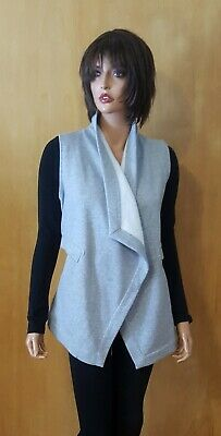 WOMENS FABLETICS GREY SWEATSHIRT HANKERCHIEF VEST ~ SMALL