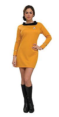 Star Trek Klassisch Goldenes Kleid Erwachsene Damen Kostüm Film Thema ()