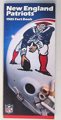 1985 NEW ENGLAND PATRIOTS NFL Football Press book media guide
