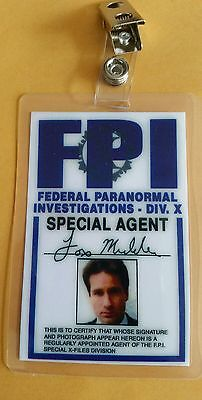 X-Files TV Serien Id Badge-Fox Mulder Kostüm Requisite - Mulder Kostüm
