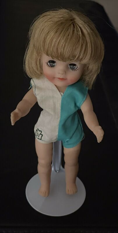 Vintage FLUFFY GIRL SCOUT DOLL-SWIM SUIT-STAND-1965