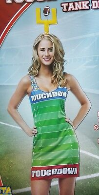 Touch Down Touchdown Football Field Tank Dress Woman Costume Rasta Imposta 6346 - Rasta Woman Costume