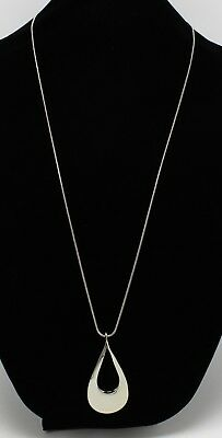 New Silver Twisted Teardrop Pendant Necklace by Bay to Baubles Stitch Fix #N2532