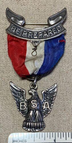 Vintage 1960s-70s EAGLE SCOUT Boy Scouts Rank MEDAL Award Badge Uniform Sterling