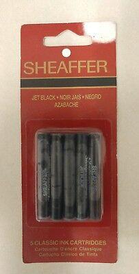 Fountain Pen Refills! Sheaffer White Dot! Pack of 5 Jet Black! (1990) Nice Item