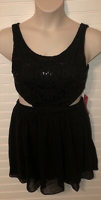 City Triangles Black Open At Waist Sz 11 Dress Cruise Homecoming Party NEW