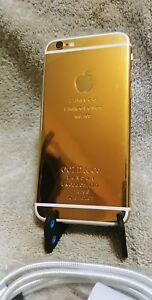 CUSTOM 24K GOLD PLATED Apple iPhone 6 Plus - 128GB - (Unlocked) A1522 (GSM)