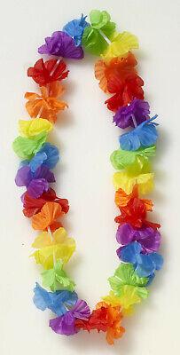 12 Pack Ruffled Flower Leis tropical Hawaiian cloth necklaces Luau party supply - Luau Clothing