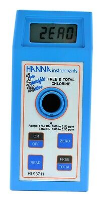 Hanna Instruments Hi93711 Free Total Chlorine Hr Meter Imi