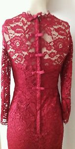 COAST * CASSIA * MULBERRY LONG SLEEVE LACE DRESS SIZE 8 NEW