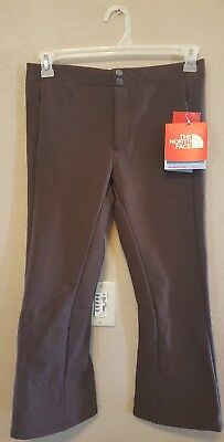 NWT The North Face APEX STH Pant. Girls Youth Size Large. Brownie Brown.