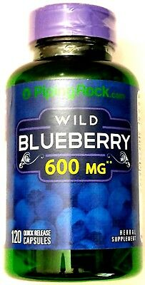 1 Mg 120 Pills (600mg Wild Blueberry Fruit 5:1 Extract 120 Capsules Antioxidant Supplement)