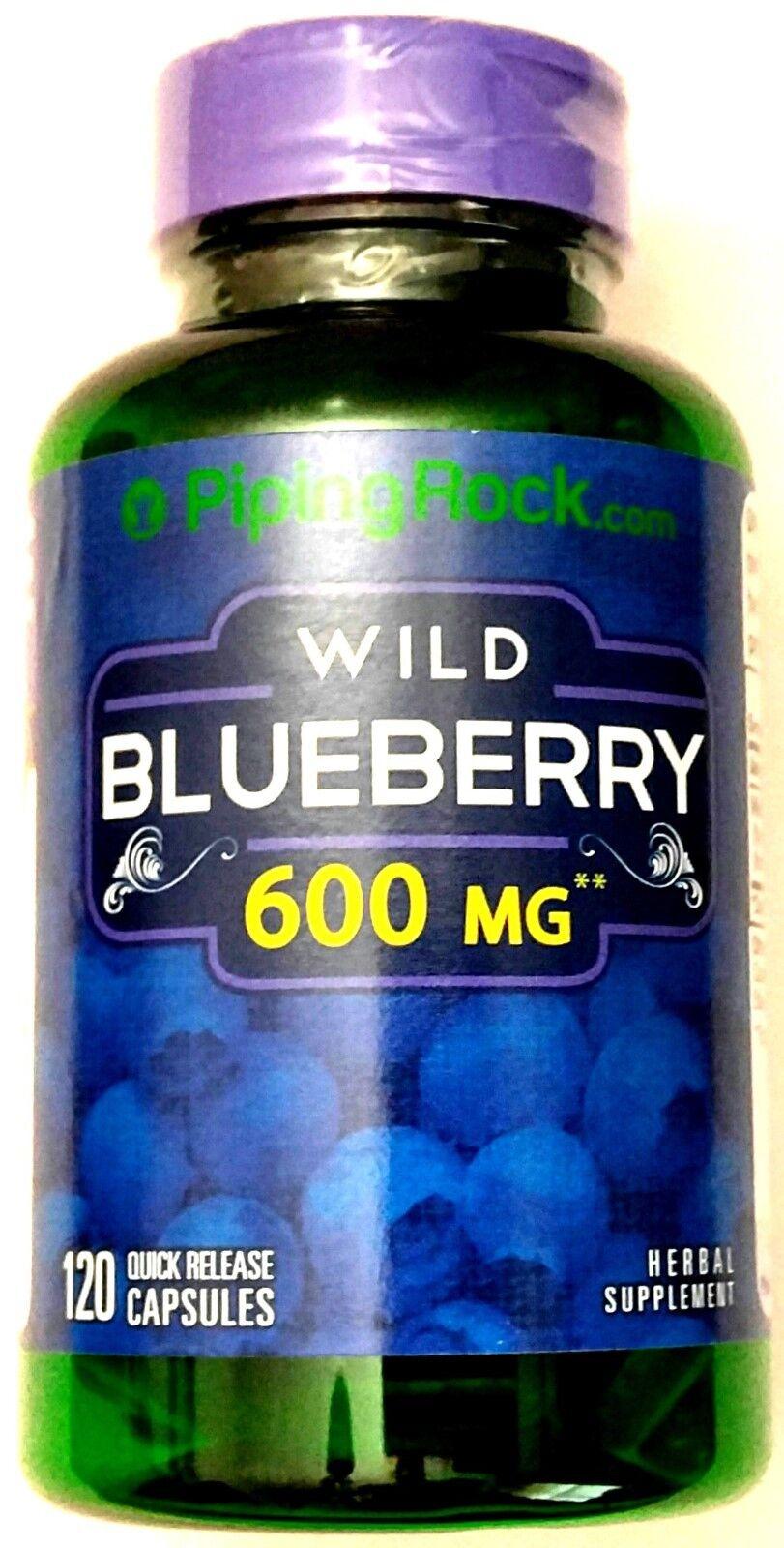 Extrait de fruit de myrtille sauvage 5- 1 de 600mg pilule de supplément antioxydant de 120 capsules