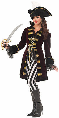 Captain Morgana Womens Pirate Costume Lady Captain Morgan Adult Size M/L